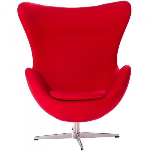 Мягкое кресло Эгг, ткань красная