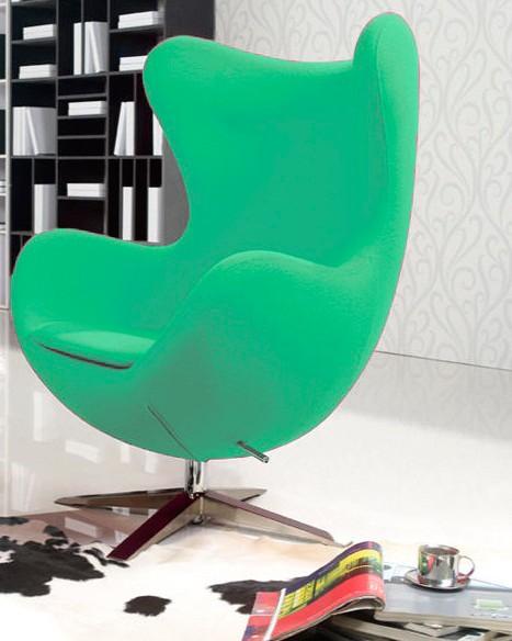 Кресло Эгг, ткань зеленая