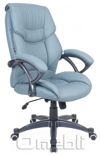 Кресло Фокси HB Кожзам голубой A7345