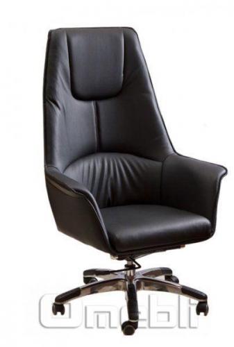 Кресло Галлея HB Кожзам черный A7260