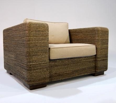 Кресло из абаки с подушкой, широкое, солидное, 120*100*67см! Торг!