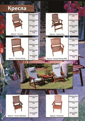 Кресло из мербау садовая мебель