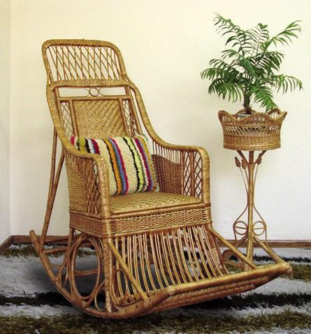 Кресло-качалка из лозы Черниговчанка