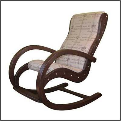"""Кресло качалка """"Siesta"""" из натуральной гнутой древесины."""