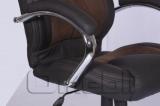 Кресло Каир HB коричневая микрофибра Кожзам черный A7307