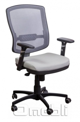 Кресло Коннект без подголов. Сетка серая/ Неаполь 23 A38384