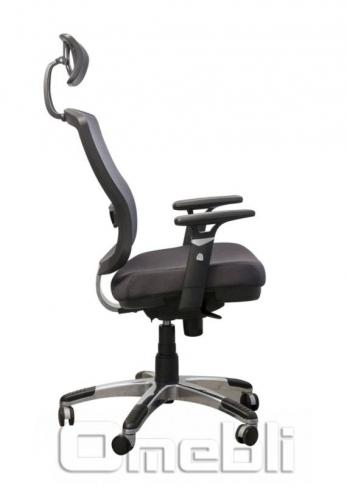 Кресло Коннект HR Alum Сетка черн/ Сетка черн A38347