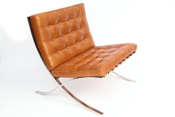 Кресло, кожа бежевая