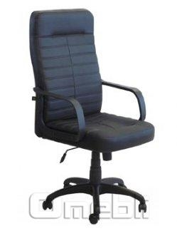 Кресло Ледли НВ Скаден черный кожзам A6481