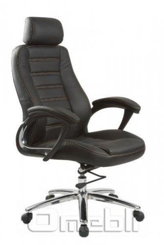 Кресло Лидер HB Кожзам черный A7312