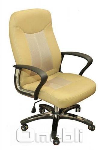 Кресло Мейджик HB Кожзам бежевый A7341