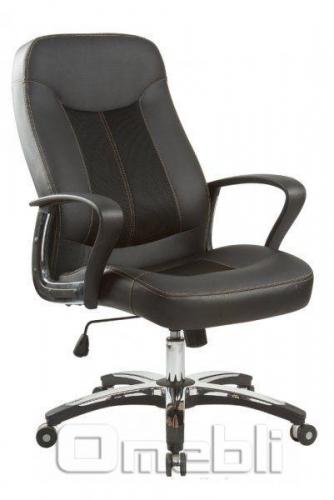 Кресло Мейджик HB Кожзам черный A7339