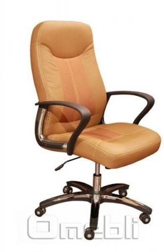 Кресло Мейджик HB Кожзам коричневый A7340