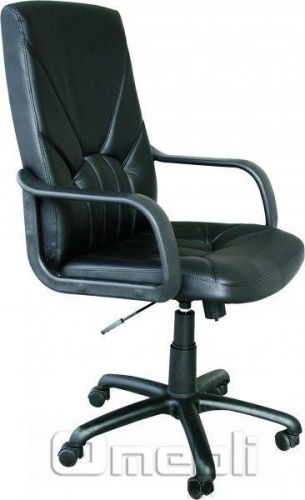 Кресло Менеджер НВ Скаден черный кожзам A7094
