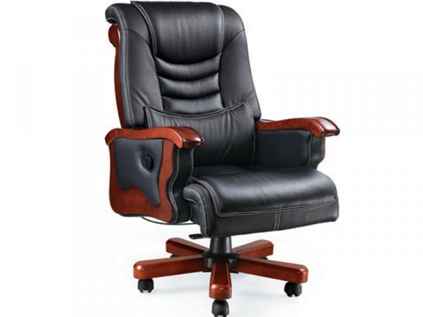 Кресло Монреаль, кожа черная Регулируется высота сиденья и угол наклона спинки, глубокое качание в одном положении.