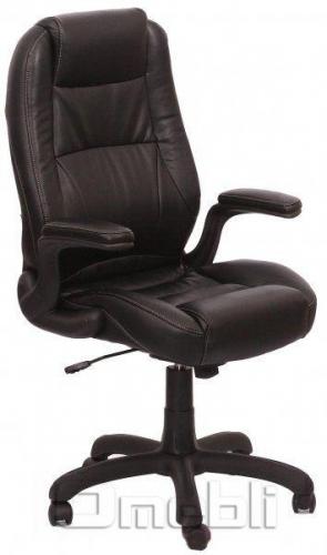 Кресло Мустанг HB Кожзам черный A7319