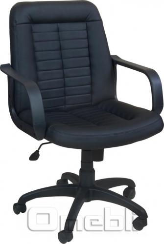 Кресло Нота PL Скаден черный кожзам A6529