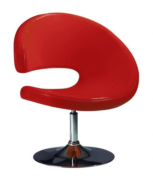 Кресло барное Опорто, цвет красный