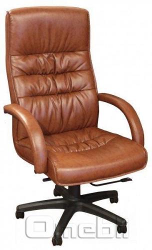 Кресло Орхидея HB Кожзам коричневый A7303