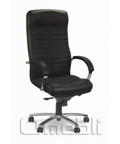 Кресло Орион НВ Кожа Сплит Черная A4104