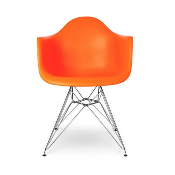 Кресло пластиковое Тауэр, цвет оранжевый