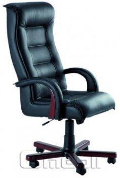 Кресло Роял LUX ANYFIX Неаполь Черный N 20 подлокотники орех A37860
