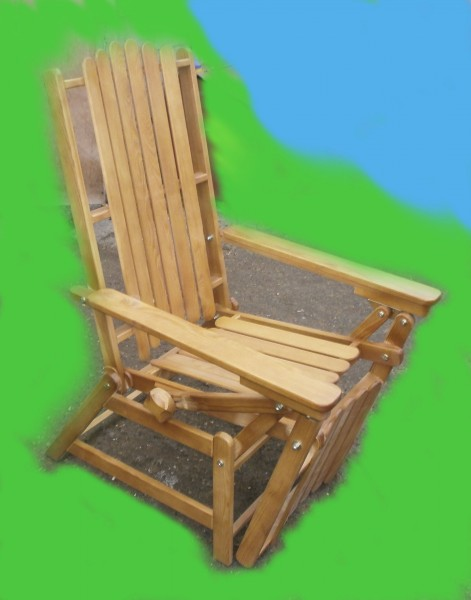 кресло-шезлонг массив лиственница