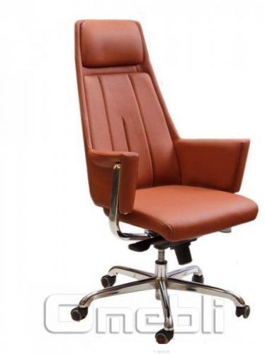 Кресло Сириус HB Кожзам коричневый A7263