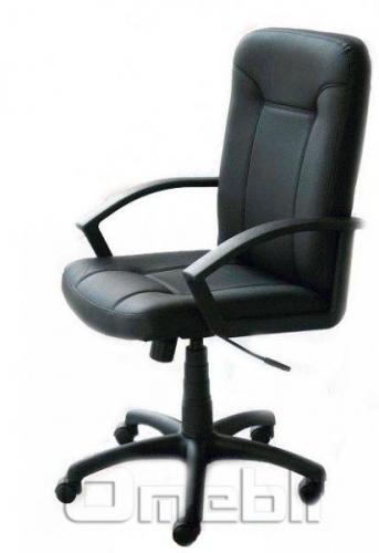 Кресло Смарт НВ Скаден черный кожзам A6602