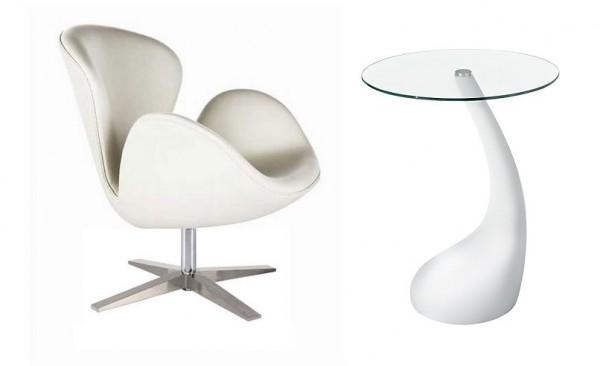 Кресло СВ, цвет белый