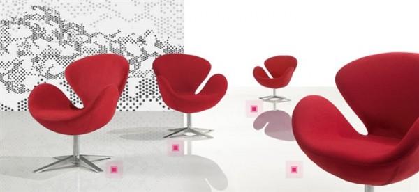 Кресло для дома СВ, ткань красная