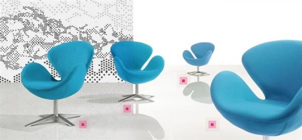 Кресло СВ, ткань синяя
