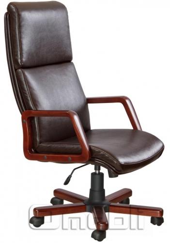 Кресло Техас Экстра Неаполь N 77 пятнистый подлокотники орех A5455