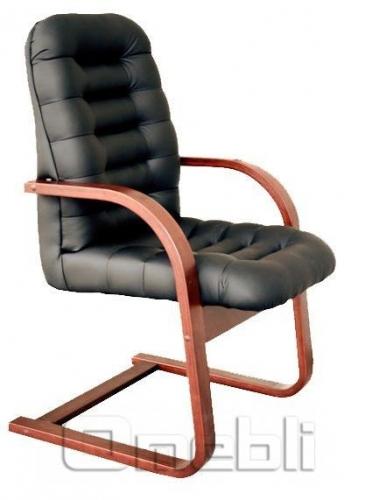 Кресло Тунис CF Неаполь Черный N 20 подлокотники орех A6344