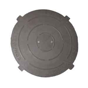 Крышка люка композитная d=645 10 кг, нагрузка 1,5т, 4 уха
