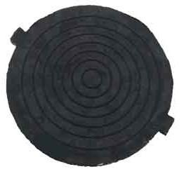 Крышка резинового люка (В125)Вес: 28 кг, Размеры: d крыш. -630х50мм, Выдерживает нагрузку 12,5 т, (2 уха)
