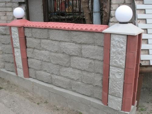 Крышки для столбов забора бетонные, крышки на столбы