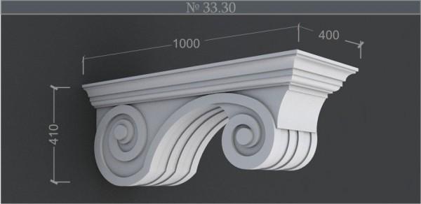 Кронштейн. Фасадный, архитектурный декор. Пенопласт машинная армировка под покраску. www. artfasad. com