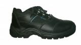 Кроссовок-туфель ПУП чёрного цвета с вентилирующими системами и тёмно-синими вставками