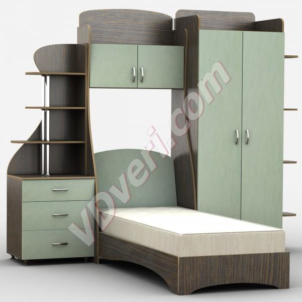 Кровать Д-4р (цвет на выбор)