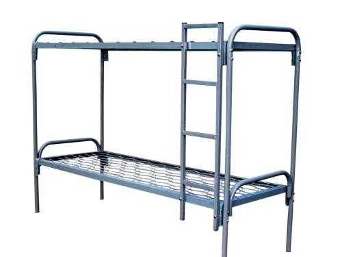 Кровать двухъярусная металлическая, плоскопружинная сетка
