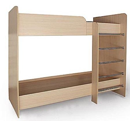 Кровать - двухъярусная. Размеры, мм : 800x1900 / 900x2000