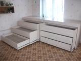Кровать-комод 3-х ярусная
