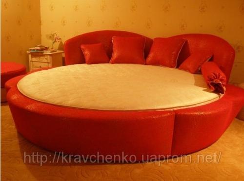 Кровать круглая Розанна. Круглая кровать под заказ.