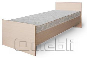 Кровать Matroluxe №4 с каркасным матрасом, 90х200 прям спин A32980