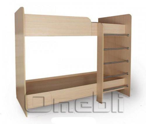 Кровать Matroluxe №6 двухъярусная, 80х190 прям спин A32990