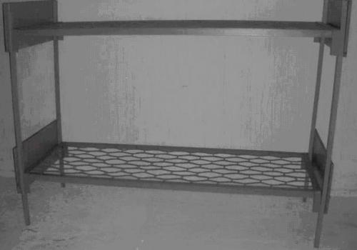 Кровать металлическая с деревяными спинками 1-2-ярусная