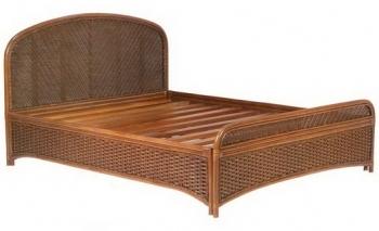 Кровать SPA067. Произведена в Индонезии. Материал: ротанг натуральный. Цвет: темно-коричневый. Габариты: 160х210х110