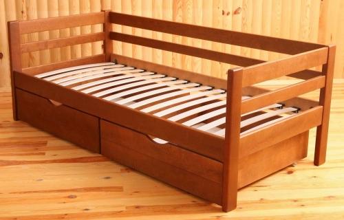 Кровать-тахта с ящиками натуральное дерево массив ольха, ясень высокое качество