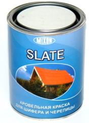 Кровельная краска для шифера и черепицы MIXON SLATE коричневая 0.7 л. , 25 кг.